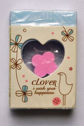 ERAS113 Clover Eraser within an Eraser - Blue with Pink Clover