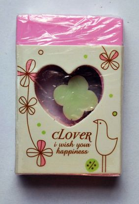 ERAS114 Clover Eraser within an Eraser - Pink with Green Clover