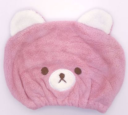 Buy Cute Bear Hair Towel / Turban - Pink