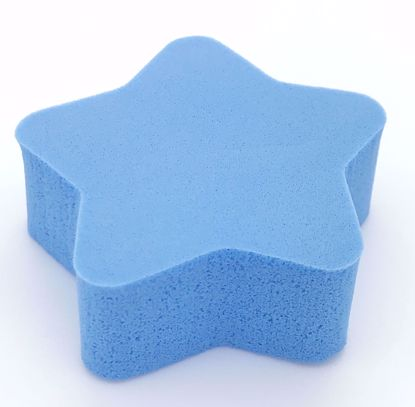 Buy Small Star Shaped Make Up Sponge - Blue