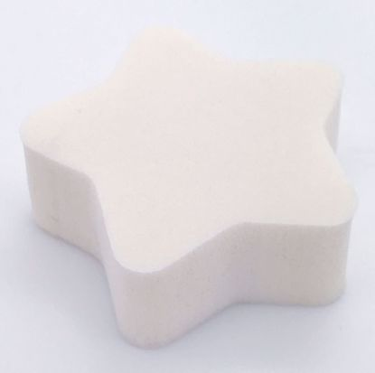 Buy Small Star Shaped Make Up Sponge - White