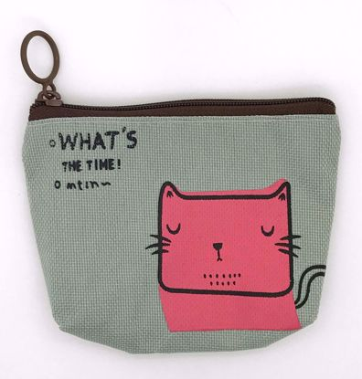 Buy Korean Style Canvas Change Purse - Cat