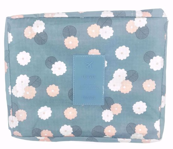 Buy Floral Patterned Travel Make Up / Toiletries Bag