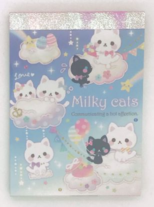 Buy Milky Cats Mini Memo Pad