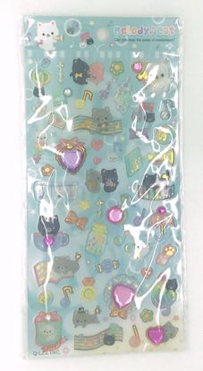 Buy Melody Cat Sugary Stone Sticker Sheet with Fabric Stickers and Gemstones